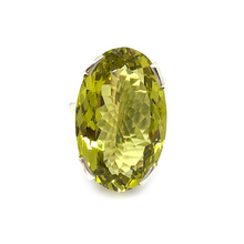 Load image into Gallery viewer, large lemon quartz gemstone sterling silver statement ring