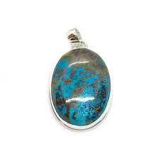 Load image into Gallery viewer, shattuckite oval gemstone silver pendant