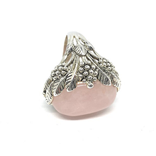 Load image into Gallery viewer, big statement rose quartz ring
