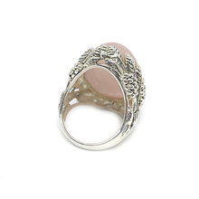 Load image into Gallery viewer, rose quartz ring sterling silver