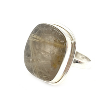 Load image into Gallery viewer, Morganite Aquarmarine Raw Gemstone Ring Sterling Silver - Stoned Hilda Discover the soul of Gemstones
