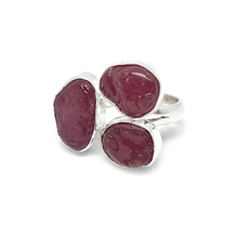 Load image into Gallery viewer, big ruby gemstone sterling silver statement ring