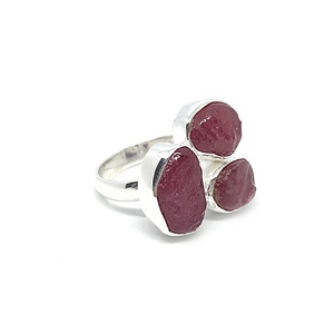 big ruby gemstone sterling silver statement ring