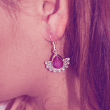 Load image into Gallery viewer, boho style ruby gemstone sterling silver earring
