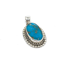 Load image into Gallery viewer, copper turquoise silver pendant