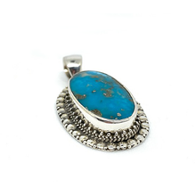 Load image into Gallery viewer, copper turquoise chunky pendant