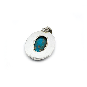 sterling silver turquoise copper pendant