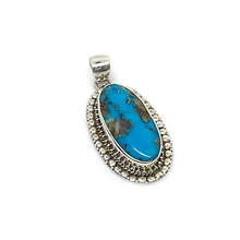 Load image into Gallery viewer, turquoise copper silver pendant