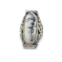 Load image into Gallery viewer, dendritic gemstone silver boho ring