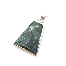 Load image into Gallery viewer, seraphinite gemstone silver boho style sterling silver pendant