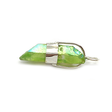 Load image into Gallery viewer, green aqua aura quartz sterling silver pendant