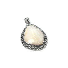 Load image into Gallery viewer, shell necklace boho sterling silver