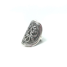 Load image into Gallery viewer, bohemian silver tribal ring