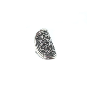 large chunky silver boho ring