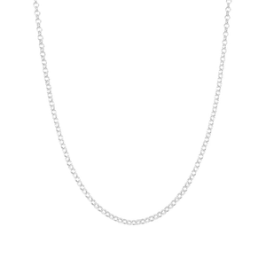 sterling silver classic mini belcher chain necklace