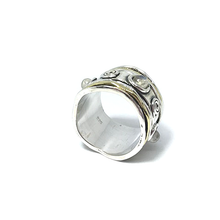 Load image into Gallery viewer, moonstone spin wish anxiety ring
