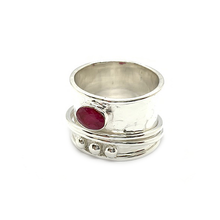 Load image into Gallery viewer, wish anxiety spinning sterling silver ring topaz pearl turquoise amethyst ruby onyx moonstone