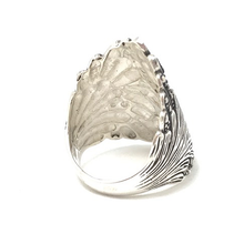 Load image into Gallery viewer, oxidized silver leaf ring bohemian style