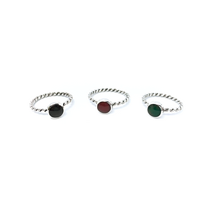 Stacker Rings Round Multi Sterling Silver - Stoned Hilda Discover the soul of Gemstones