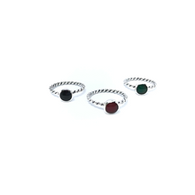 Load image into Gallery viewer, Stacker Rings Round Multi Sterling Silver - Stoned Hilda Discover the soul of Gemstones