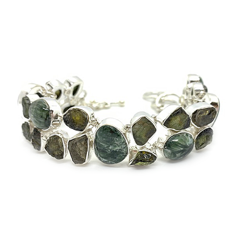 tourmaline seraphinite gemstone bracelet