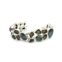 Load image into Gallery viewer, tourmaline seraphinite gemstone bracelet