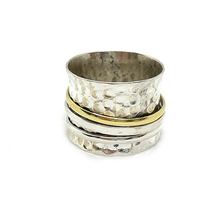 Load image into Gallery viewer, sterling silver moonstone spinning anxiety ring