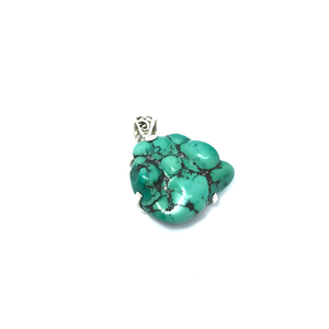 Turquoise Pendant Natural Set In Sterling Silver - Stoned Hilda Discover the soul of Gemstones