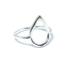 Load image into Gallery viewer, teardrop silver ring