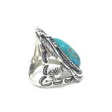 Load image into Gallery viewer, big gypsy boho style statement silver ring