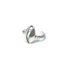 Load image into Gallery viewer, toe ring cowrie sterling silver