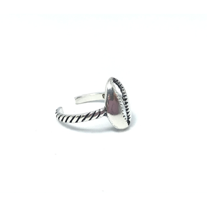cowrie shell silver bohemian toe ring beach style