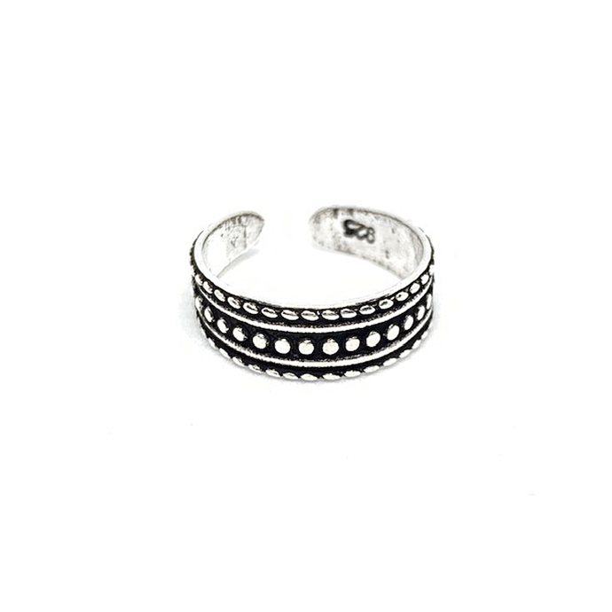 silver tribal boho style toe ring