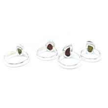 Load image into Gallery viewer, Tourmaline Rough Cut Gemstone Ring Sterling Silver - Quirky Pieces