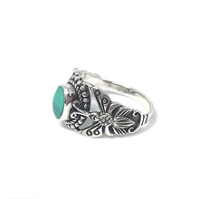 Load image into Gallery viewer, sterling silver turquoise ring