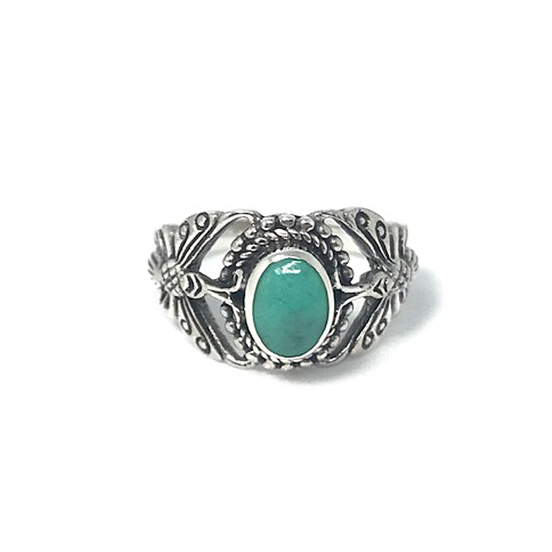 turquoise silver butterfly ring
