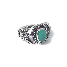 Load image into Gallery viewer, silver turquoise butterfly