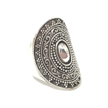 Load image into Gallery viewer, statement silver bohemian style ring australia