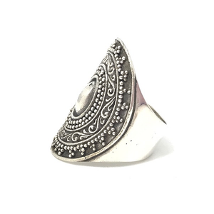 big statement tribal rings boho style