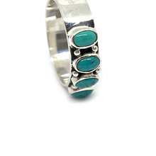 Load image into Gallery viewer, sterling silver turquoise bohemian style ring