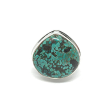 Load image into Gallery viewer, tibet turquoise silver gemstone gypsy style ring