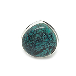 tibet turquoise silver gemstone gypsy style ring