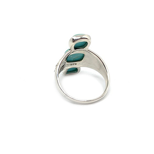 turquoise ring with three stones