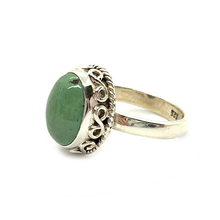 Load image into Gallery viewer, turquoise gemstone boho gypsy style sterling silver ring