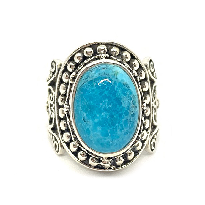 big statement sterling silver turquoise gemstone navajo boho style gypsy ring