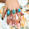 turquoise sterling silver gemstone ring