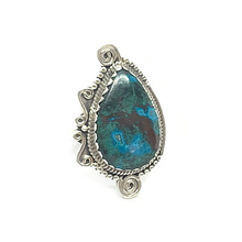 Load image into Gallery viewer, big statement turquoise swirl gemstone ring