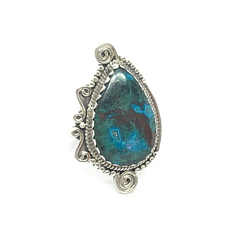 big statement turquoise swirl gemstone ring
