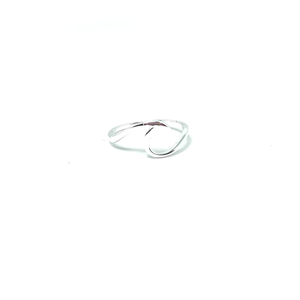 sterling silver wave ring bohemain style