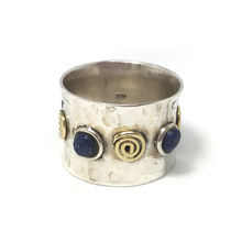Load image into Gallery viewer, gypsy style boho lapis lazuli ring
